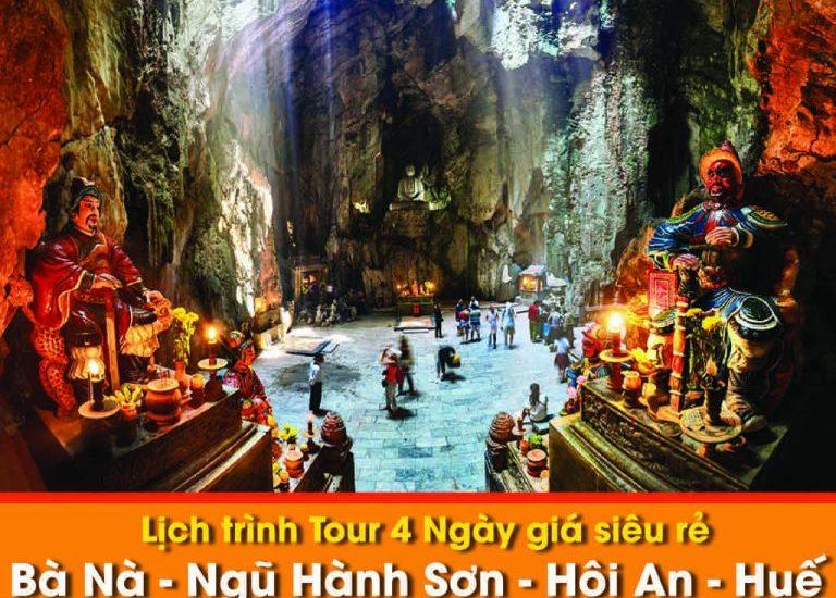 Lịch trình Tour Đà Nẵng – Bà Nà – Hội An – Huế – 4 Ngày giá siêu rẻ
